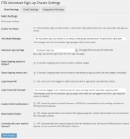 Admin side - Tabbed settings page showing main plugin settings