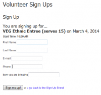 volunteer sign ups