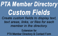 PTA Member Directory Custom Fields