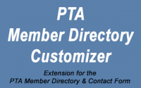 Customizer extension for the PTA Member Directory & Contact Form plugin