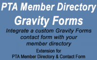 PTA Member Directory Gravity Forms Extension