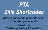 Shortcode Generator for PTA plugins
