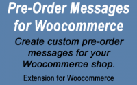 Woocommerce Pre-Order Messages