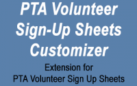 PTA Volunteer Sign-Up Sheets Customizer