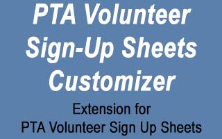 pta volunteer sign up sheets customizer stephen sherrard plugins