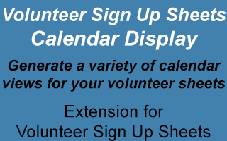 Volunteer Sign Up Sheets Calendar Display