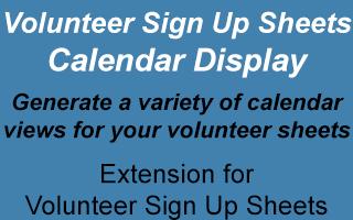 Volunteer Sign Up Sheets Calendar Display