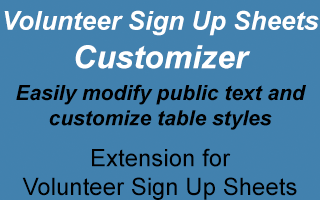 Volunteer Sign Up Sheets Customizer