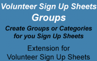 Volunteer Sign Up Sheets Groups